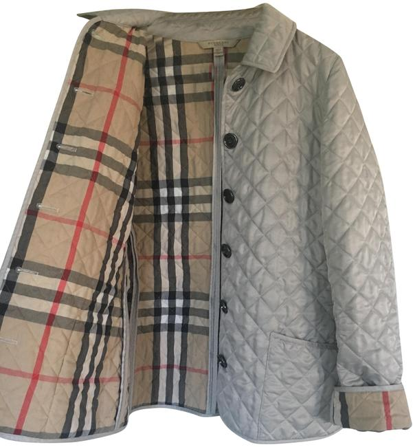 Item - Gray Wesbury Quilted Coat Jacket Size 8 (M)