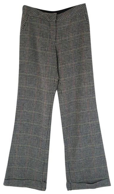 Item - Black White Plaid Checked Wool Poly Lycra Lined Pants Size 2 (XS, 26)