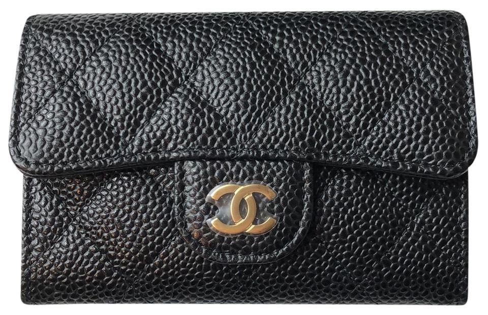 c703f973916b Chanel Black Classic Flap Card Holder Wallet - Tradesy