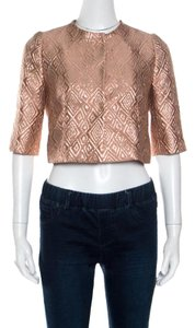 Max Mara Jacquard Crop Top Pink Jacket