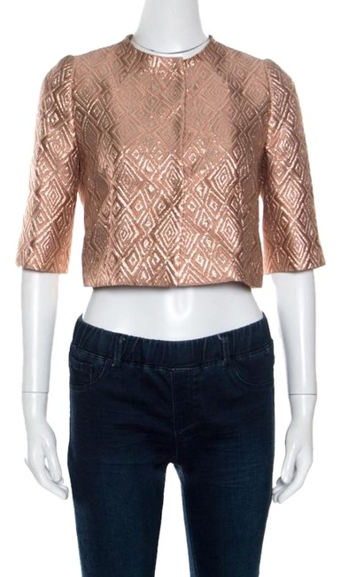 Preload https://img-static.tradesy.com/item/25080592/max-mara-pink-lurex-diamond-jacquard-cropped-cigno-jacket-size-4-s-0-1-650-650.jpg