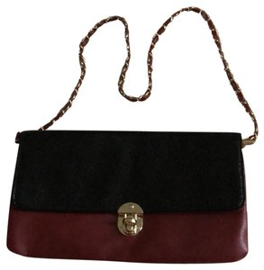 Rosie Fox London Black and Burgundy Clutch