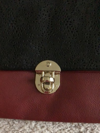 Rosie Fox London Black and Burgundy Clutch Image 1