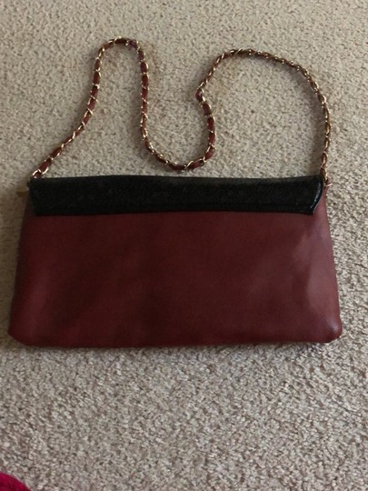 Rosie Fox London Black and Burgundy Clutch Image 2