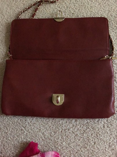 Rosie Fox London Black and Burgundy Clutch Image 4
