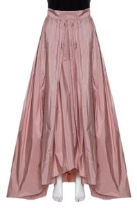 Max Mara Pleated Maxi Skirt Pink