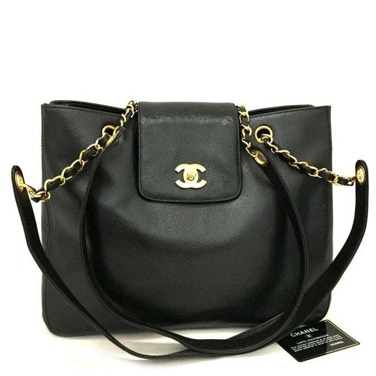 Preload https://img-static.tradesy.com/item/25080736/chanel-cc-logo-caviar-skin-chain-shoulder-black-tote-0-0-540-540.jpg