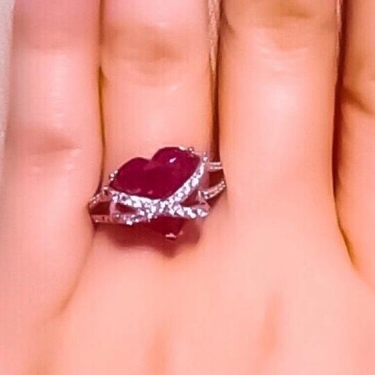 Sterling silver Ruby Ring Image 2