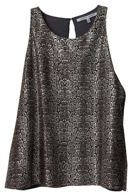Preload https://img-static.tradesy.com/item/25080869/collective-concepts-susie-snake-print-metallic-sleeveless-blouse-black-gold-silver-top-0-1-650-650.jpg