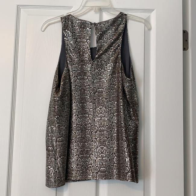 Collective Concepts Sleeveless Shimmer Girl's Snakeskin Metallic Top Black, gold, silver Image 1