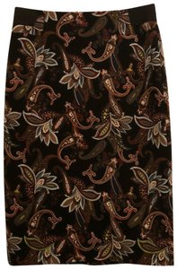 Context Skirt Black, multicolored print