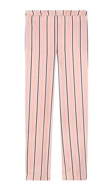 Victoria's Secret New Satin Pajama Pj Medium Millennial Pink/Ripe Apricot Strip Pants Size 8 (M, 29, 30) Victoria's Secret New Satin Pajama Pj Medium Millennial Pink/Ripe Apricot Strip Pants Size 8 (M, 29, 30) Image 1