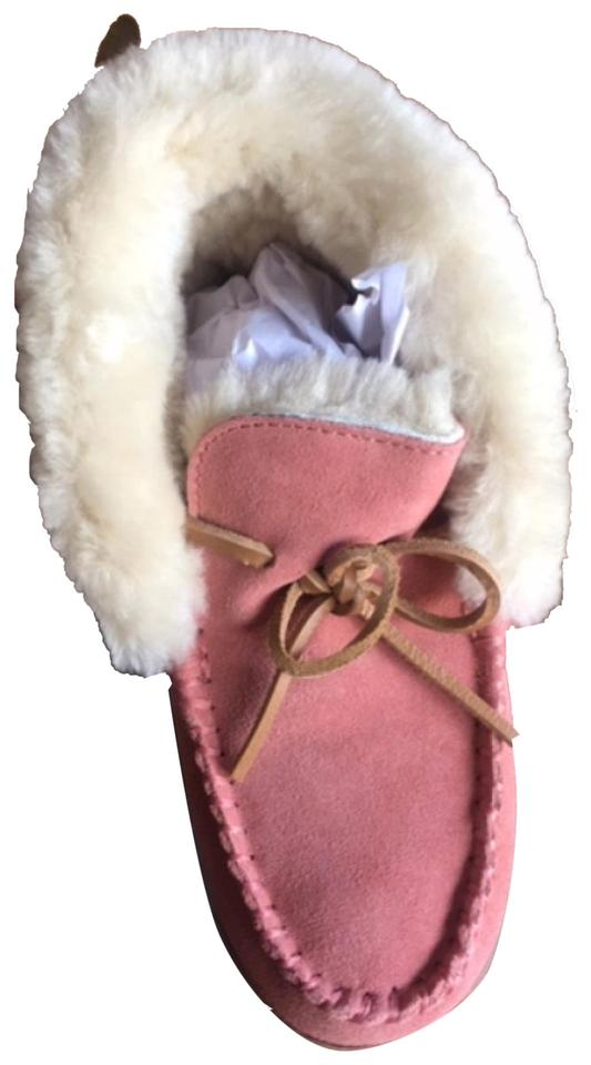bb318557d292c Lands' End Pink Womens Shearling Slippers - Dark Rose Clay Color  Boots/Booties