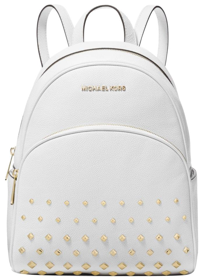744cfaacd590 Michael Kors Abbey Medium Studded Abbey Leather Shoulder Backpack Image 0  ...