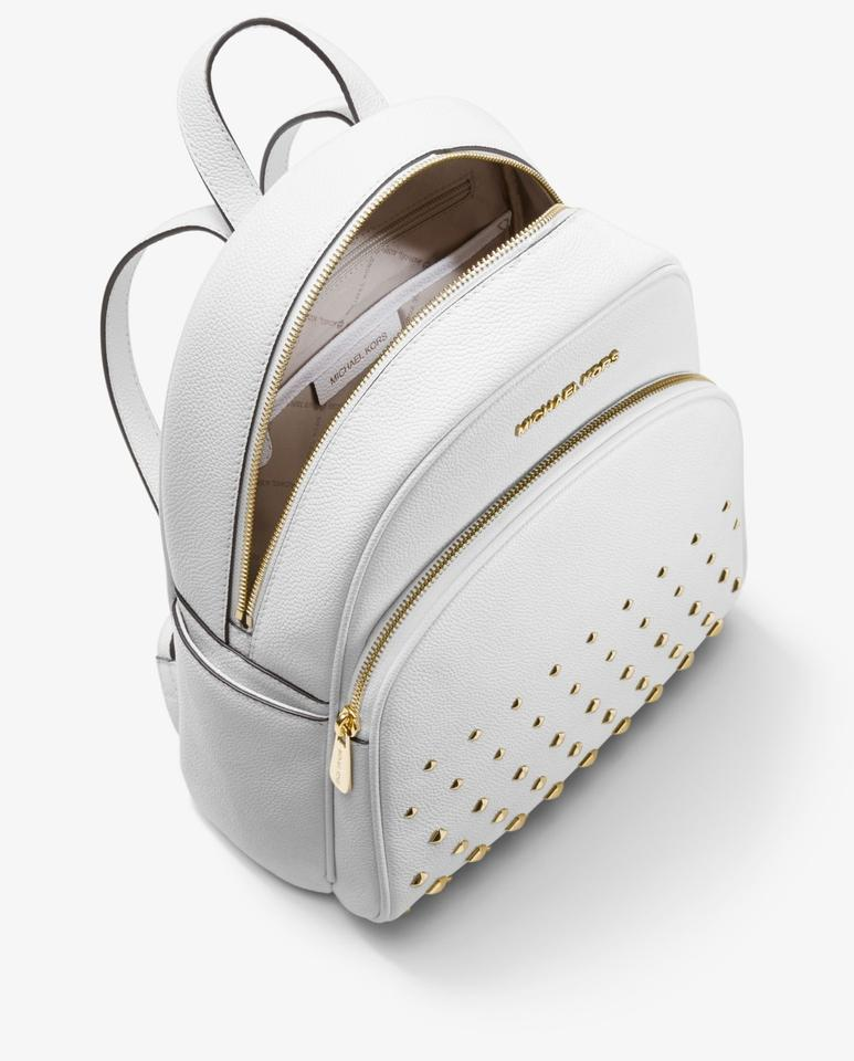 98e586eb6 Michael Kors Abbey Medium Studded Abbey Leather Shoulder Backpack Image 3.  1234