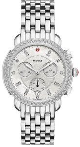 Michele Sidney Stainless Mother of Pearl Diamond Dial MWW30A000001
