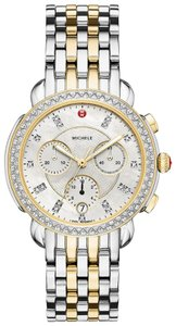 Michele Sidney Two Tone Stainless Mother of Pearl Diamond MWW30A000005
