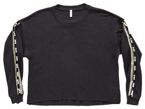 Lanston Casual Fall Winter Edgy Embellished Sweater