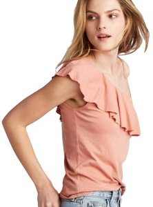 Lanston Tie One Shoulder Ruffle Summer Party Top Nectar