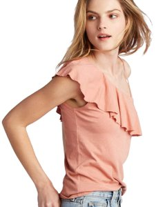 Lanston Ruffle One Shoulder Summer Party Casual Top Nectar