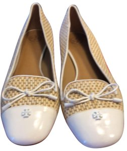 Tory Burch white and natural Wedges