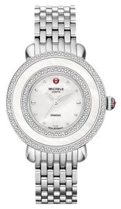 Michele Cloette Stainless Mother of Pearl Diamond Dial MWW20E000001