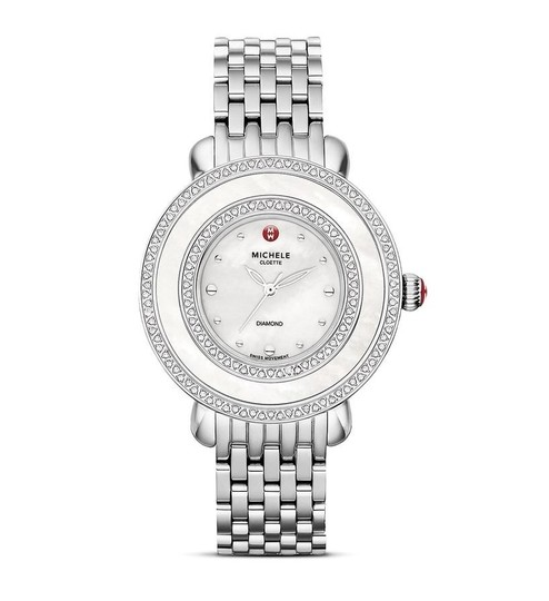 Michele Cloette Stainless Mother of Pearl Diamond Dial MWW20E000001 Image 8