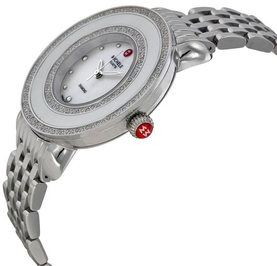 Michele Cloette Stainless Mother of Pearl Diamond Dial MWW20E000001 Image 9