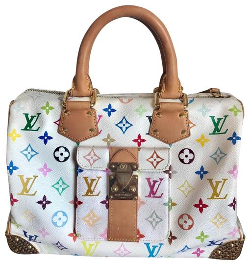 Preload https://img-static.tradesy.com/item/25081798/louis-vuitton-speedy-multicolor-30-white-canvas-satchel-0-4-540-540.jpg
