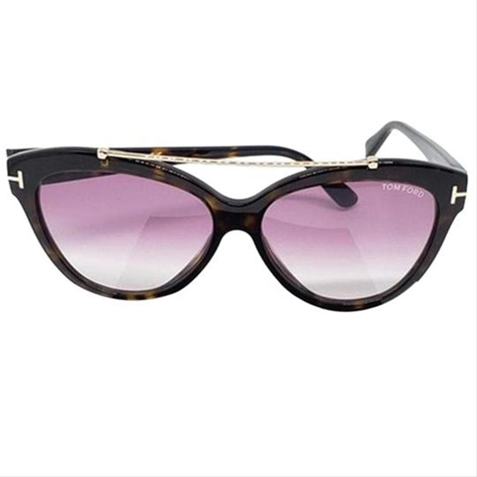 1350cce5ce Tom Ford Women Cat Eye Sunglasses Plastic   Metal Frame with Gradient Lens  Image 6. 1234567
