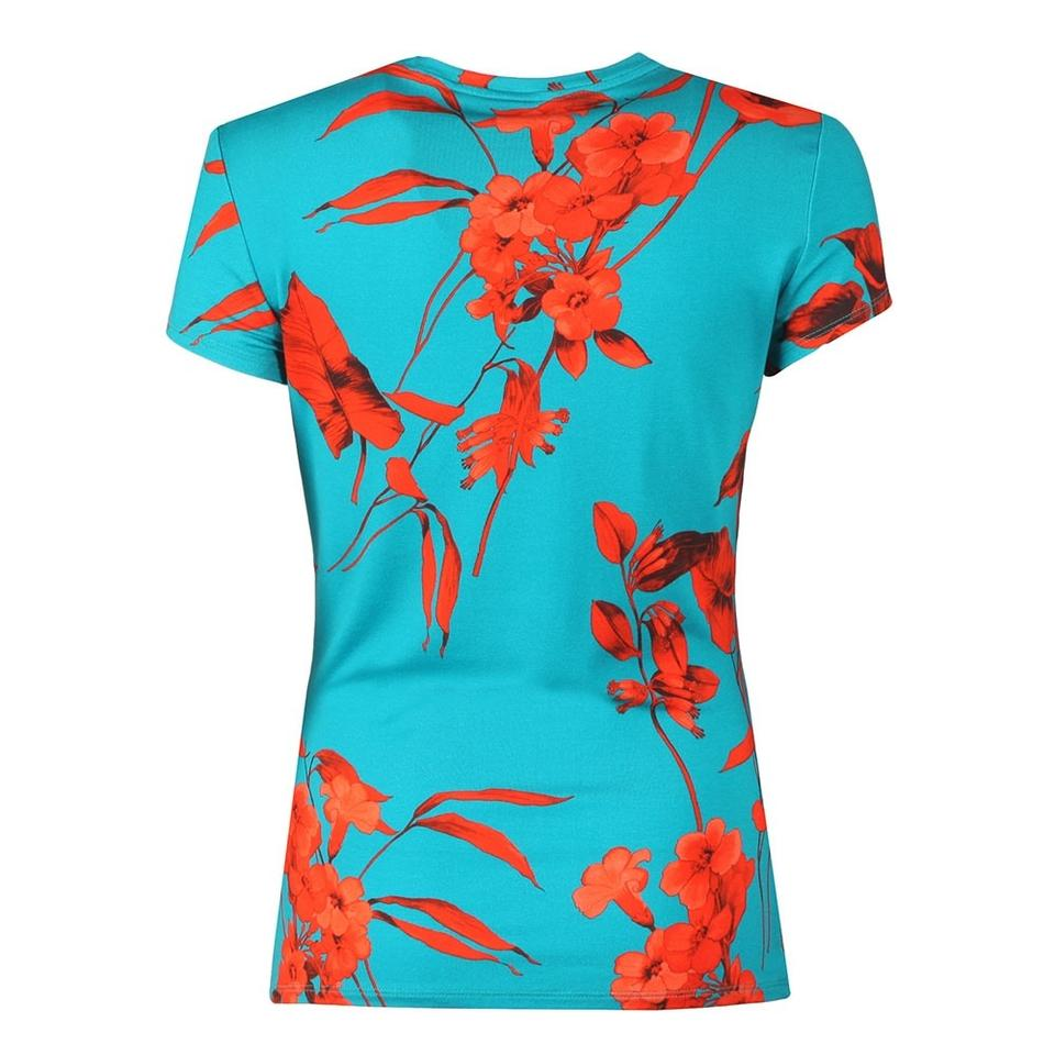 24392059848f Ted Baker Blue Dillia Fantasia Fitted T-shirt Tee Shirt Size 4 (S ...