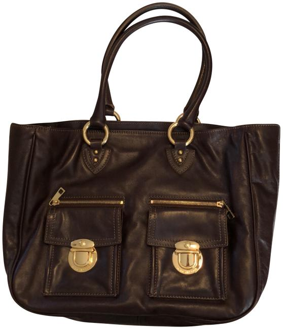 Marc Jacobs Ew Dark Brown Leather Tote Marc Jacobs Ew Dark Brown Leather Tote Image 1