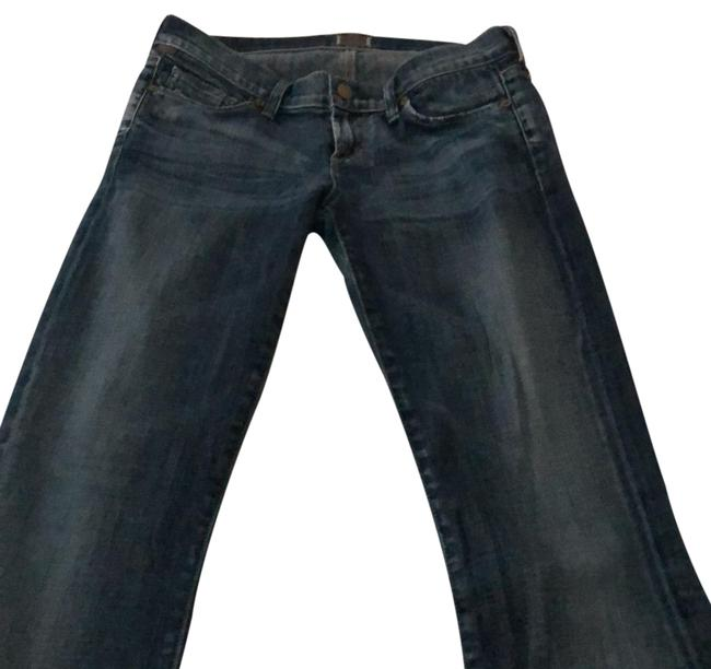 Item - Blue Medium Wash Humanity-kelly Low Rise By Jerome Dahan Boot Cut Jeans Size 26 (2, XS)