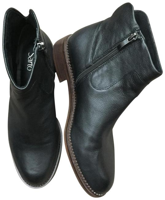 Franco Sarto Black Leather Ankle Boots