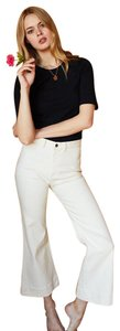 Emerson Fry Crop Top Spring Summer Chic Casual Capri/Cropped Pants Ivory