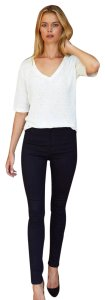 Emerson Fry Stretchy Chic Polished Edgy Skinny Jeans-Dark Rinse