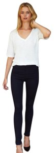 Emerson Fry Chic Polished Classic Edgy Skinny Jeans-Dark Rinse
