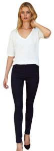 Emerson Fry Stretchy Chic Edgy Polished Skinny Jeans-Dark Rinse
