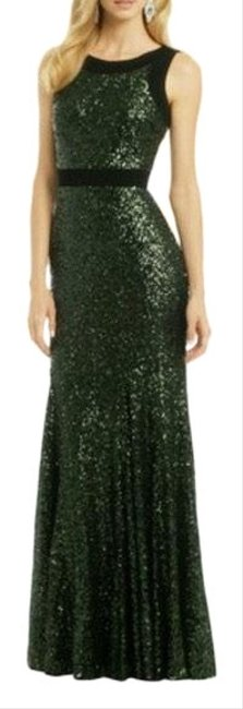 Item - Green Take The Stage Sequin Sequence Sequince Gown Long Formal Dress Size 6 (S)