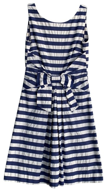 Item - White and Blue with Pockets Mid-length Work/Office Dress Size 0 (XS)