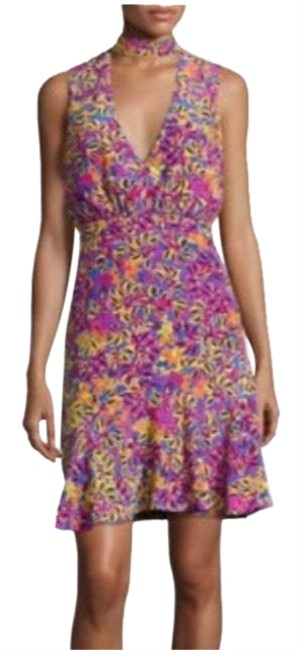 Item - Multicolor Fleur Short Cocktail Dress Size 2 (XS)
