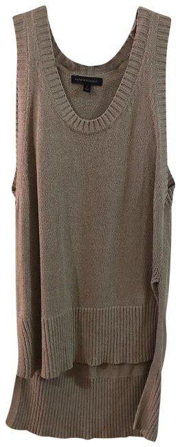 Item - Tan Sweater with Long Back Tank Top/Cami Size 6 (S)