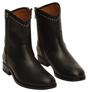 Frye Leather Studded Black Boots