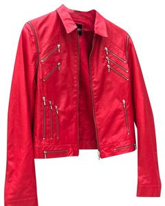 Versace Red Leather Jacket