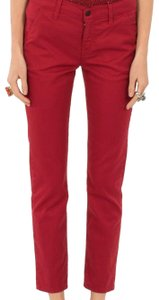 Siwy Edgy Classic Preppy Chic Khaki/Chino Pants Red Chino