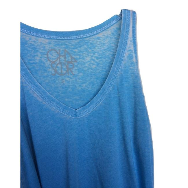 Chaser Vintage Cut Out Made In Usa Distressed T Shirt Light Blue Image 1