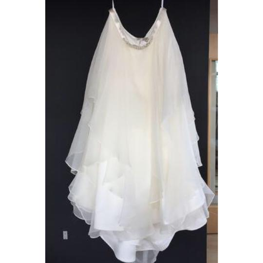 Watters Jarred Silk Layers Skirt 1003b Modern Wedding Dress Size 8 (M) Image 4