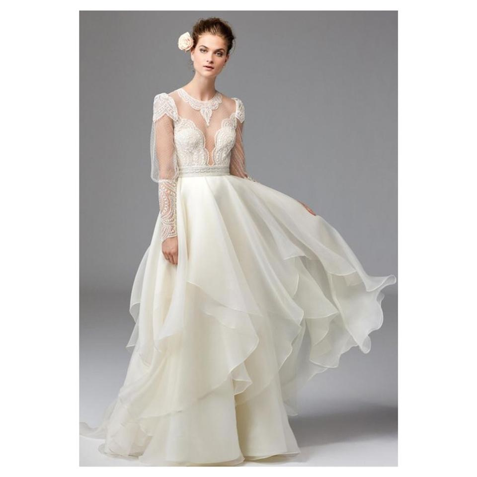 22c697394112 Watters Jarred Silk Layer Skirt Modern Wedding Dress Size 10 (M ...