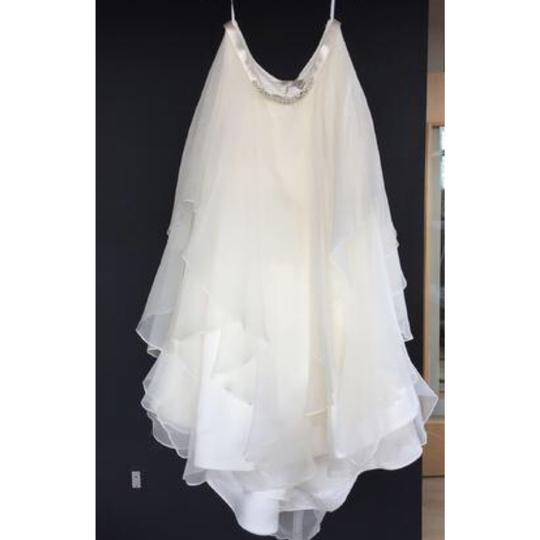 Watters Jarred Silk Layer Skirt Modern Wedding Dress Size 10 (M) Image 4