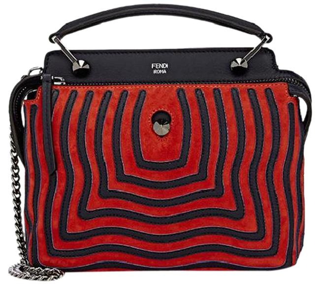 Item - New Dot.com Small Waves Multicolor Suede Leather Satchel